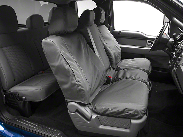 Covercraft Seat Saver Front Seat Covers - Waterproof - Gray (09-14 F-150)