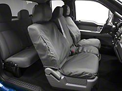 Covercraft SeatSaver Waterproof Front Seat Cover; Gray (11-14 F-150 w/ Bench Seat & Fold-Down Armrest with a Cupholder)