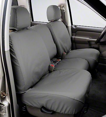 Covercraft Seat Saver 2nd Row Bench Seat Cover - Waterproof - Gray (04-08 SuperCab, SuperCrew)