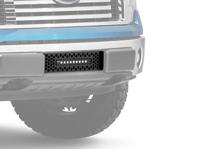 Putco Punch Design Lower Bumper Grille Insert w/ 10 in. Luminix Light Bar - Black (09-14 All, Excluding Raptor, Harley Davidson & 2011 Limited)
