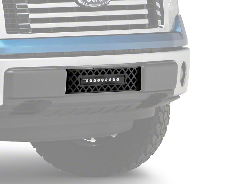 Putco Diamond Lower Bumper Grille Insert w/ 10 in. Luminix Light Bar - Black (09-14 All, Excluding Raptor, Harley Davidson & 2011 Limited)