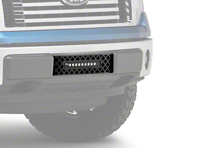 Putco Diamond Lower Bumper Grille Insert w/ 10 in. Luminix Light Bar - Black (09-14 F-150, Excluding Raptor, Harley Davidson & 2011 Limited)