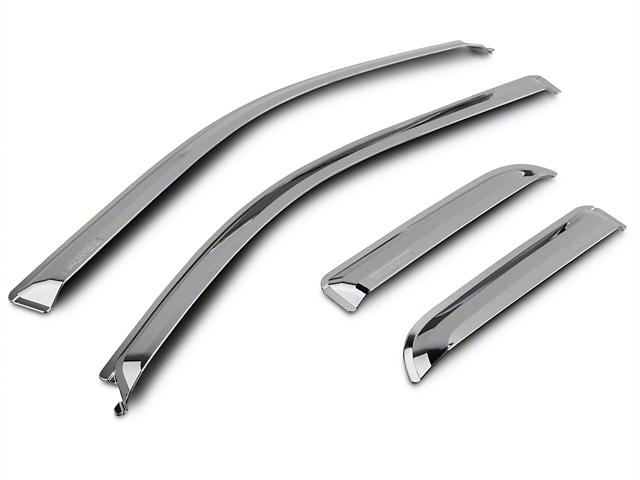 Putco Chrome Element Window Visor - Tape On - Front & Rear (09-14 SuperCab, SuperCrew)