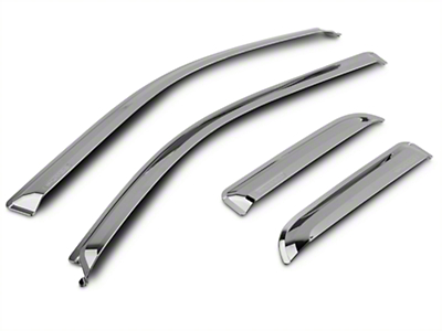 Putco Chrome Element Window Visor - Tape On - Front & Rear (09-14 SuperCab, SuperCrew)