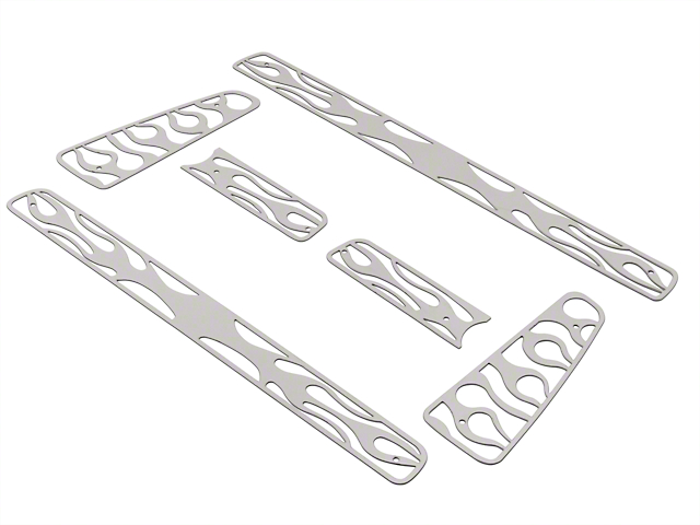 Putco Flaming Inferno Stainless Steel 6-Piece Upper Overlay Grille w/ Emblem Cutout - Polished (04-08 STX, FX4, King Ranch)