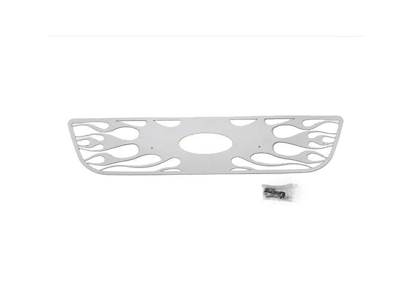 Putco Flaming Inferno Stainless Steel Upper Overlay Grille w/ Emblem Cutout - Polished (99-03 F-150 w/ OE Honeycomb Style Grille)