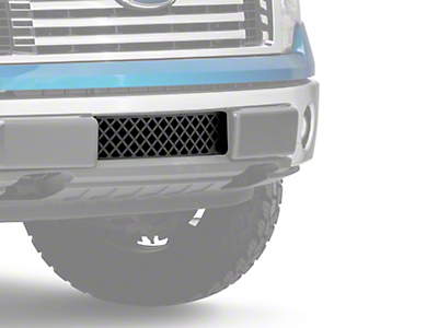 Putco Diamond Design Lower Bumper Grille Insert w/ Heater Plug Opening - Black (09-14 F-150, Excluding Raptor, Harley Davidson & 2011 Limited)