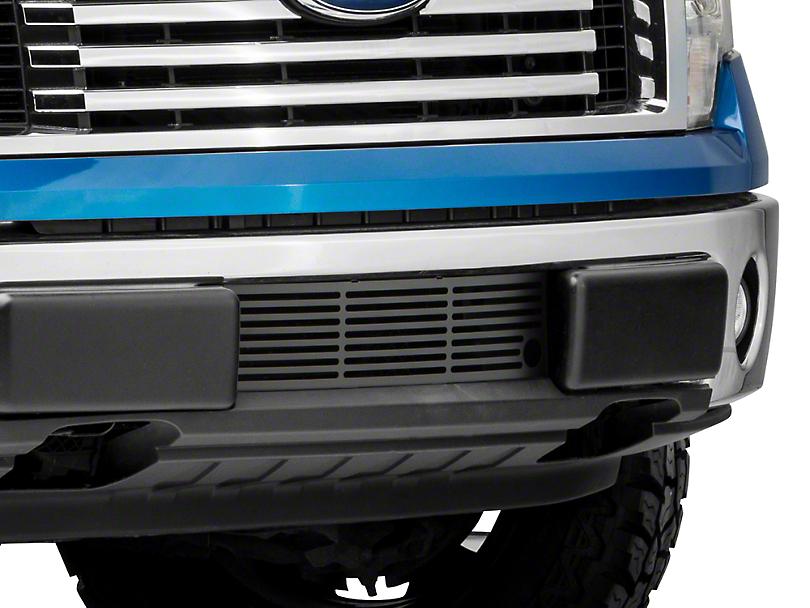Putco Bar Design Lower Bumper Grille Insert w/ Heater Plug Opening - Black (09-14 F-150, Excluding Raptor, Harley Davidson & 2011 Limited)
