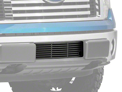 Putco Bar Design Lower Bumper Grille Insert w/ Heater Plug Opening - Black (09-14 F-150, Excluding Raptor, Harley Davidson & 2011 Limited)