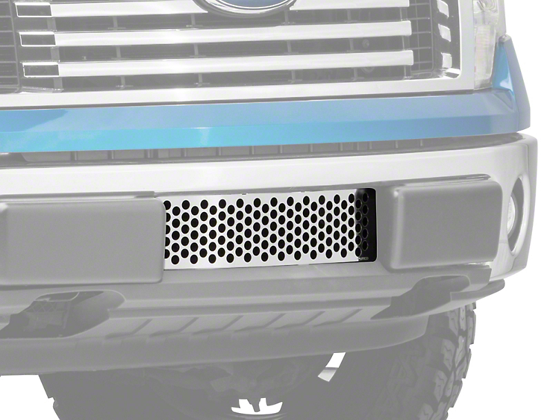 Putco Punch Design Lower Bumper Grille Insert - Polished (09-14 F-150, Excluding Raptor, Harley Davidson & 2011 Limited)
