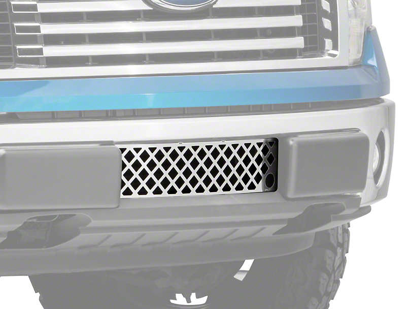 Putco Diamond Design Lower Bumper Grille Insert w/ Heater Plug Opening - Polished (09-14 All, Excluding Raptor, Harley Davidson & 2011 Limited)