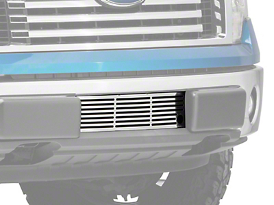 Putco Bar Design Lower Bumper Grille Insert w/ Heater Plug Opening - Polished (09-14 All, Excluding Raptor, Harley Davidson & 2011 Limited)