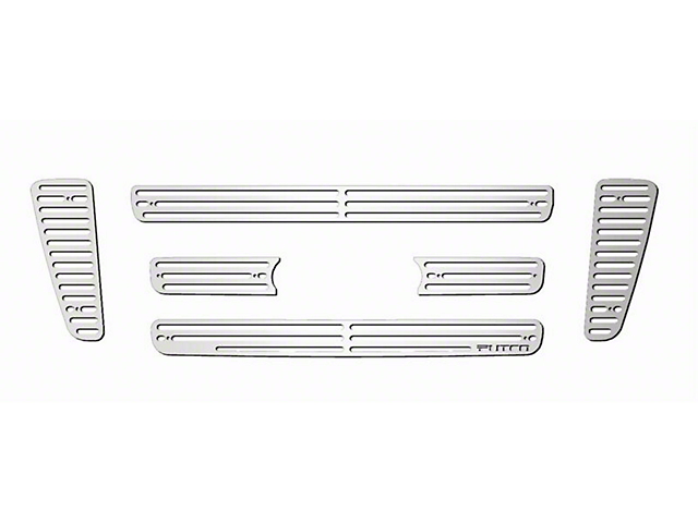 Putco Liquid Billet 6-Piece Upper Overlay Grille w/ Emblem Cutout - Polished (04-08 STX, FX4, King Ranch)