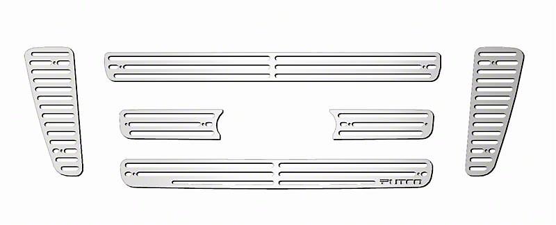 Putco Liquid Billet 6-Piece Upper Overlay Grille w/ Emblem Cutout - Polished (04-08 STX, FX4, King Ranch)