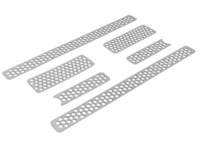 Putco Punch Stainless Steel 6-Piece Upper Overlay Grille - Polished (09-12 F-150 Lariat, King Ranch)