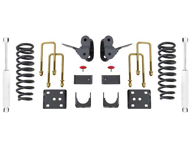 Max Trac Lowering Kit; 2-Inch Front / 4-Inch Rear (04-08 2WD/4WD F-150)