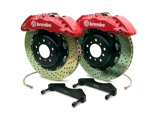 Brembo GT Series 6-Piston Front Brake Kit - 15 in. Drilled Rotors - Red (10-14 F-150 Raptor)