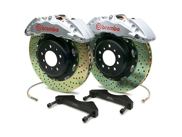 Brembo GT Series 6-Piston Front Brake Kit - 15 in. Drilled Rotors - Silver (10-14 Raptor)