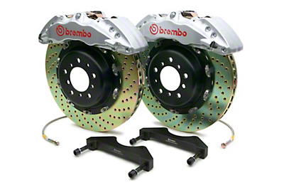 Brembo GT Series 6-Piston Front Brake Kit - 15 in. Drilled Rotors - Silver (10-14 F-150 Raptor)