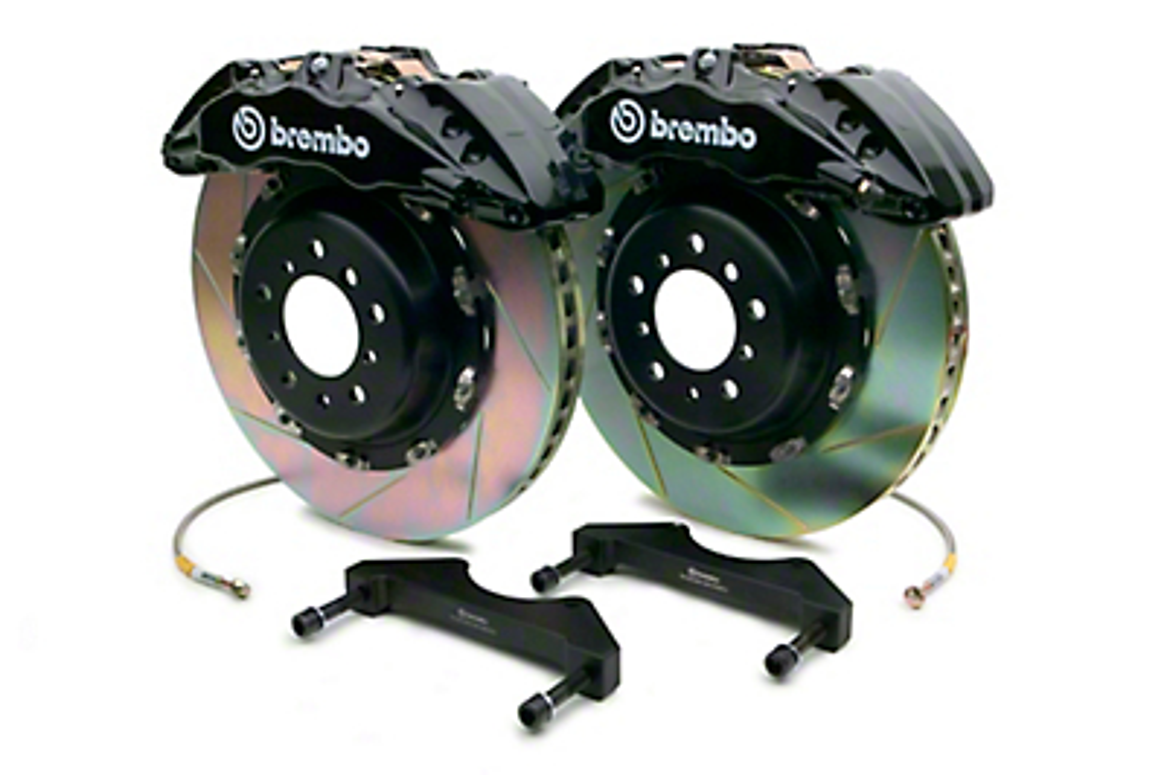 Brembo GT Series 6-Piston Front Brake Kit - 15 in. Type 1 Slotted Rotors - Black (10-14 Raptor)