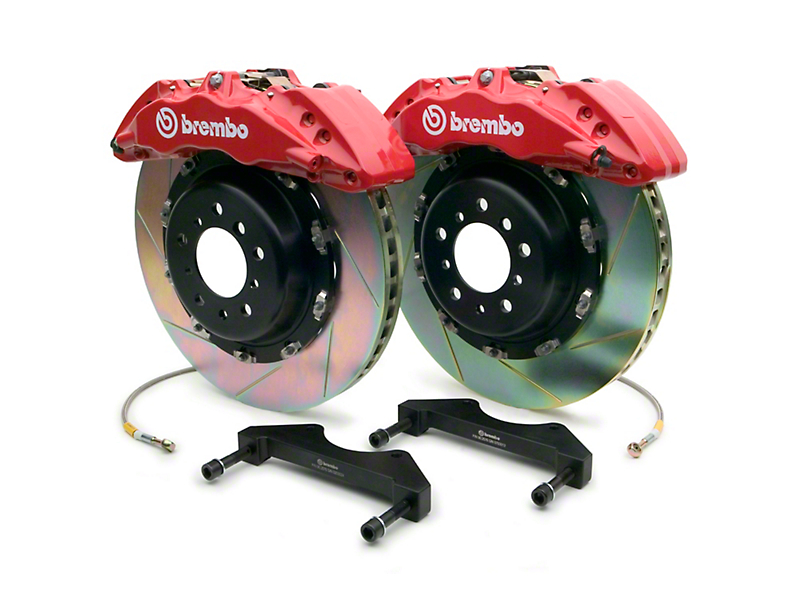 Brembo GT Series 6-Piston Front Brake Kit - 15 in. Type 1 Slotted Rotors - Red (10-14 Raptor)