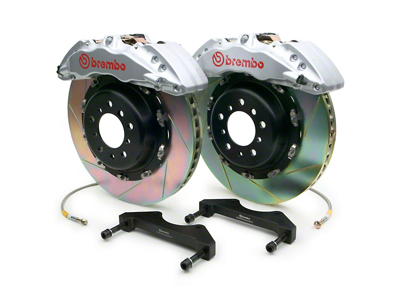 Brembo GT Series 6-Piston Front Brake Kit - 15 in. Type 1 Slotted Rotors - Silver (10-14 F-150 Raptor)