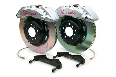 Brembo GT Series 6-Piston Front Brake Kit - 15 in. Type 1 Slotted Rotors - Silver (10-14 Raptor)