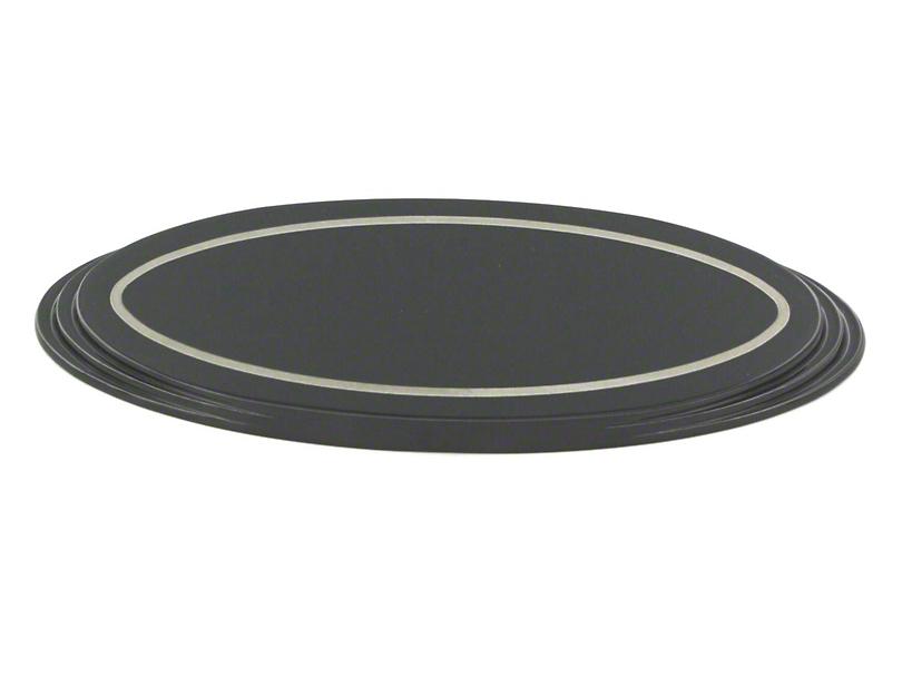 SpeedForm Oval Step Style Grille Emblem - Black (04-14 All)