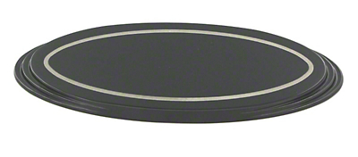 SpeedForm Oval Step Style Grille Emblem - Black (04-14 All)