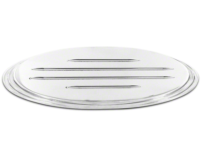 SpeedForm Oval Step Style Tailgate Emblem w/ Ball Milled Lines - Polished (09-14 F-150 w/ Camera)