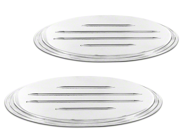 SpeedForm Oval Step Style Grille & Tailgate Emblems w/ Ball Milled Lines - Polished (09-14 F-150 w/ Camera)