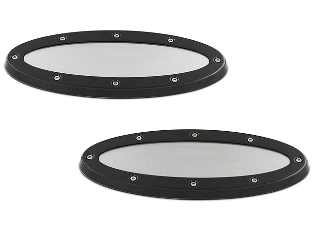 SpeedForm Oval Race Style Grille & Tailgate Emblems - Black w/ Brushed Insert (09-14 w/ Camera)