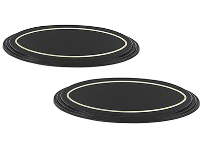 SpeedForm Oval Step Style Grille & Tailgate Emblems - Black (09-14 w/ Camera)