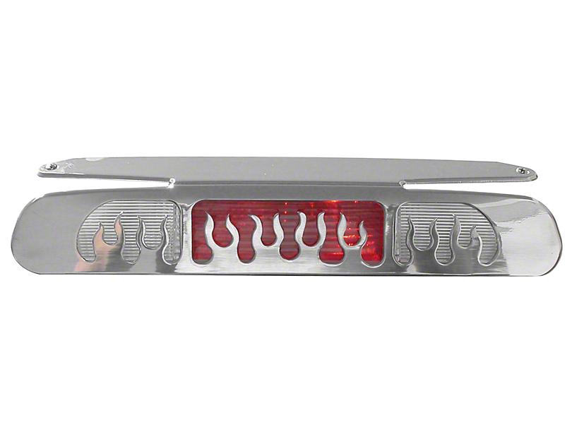Modern Billet Flame Design Third Brake Light Cover - Polished (04-08 F-150)