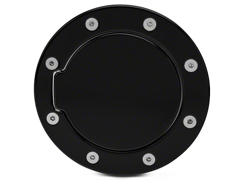 Modern Billet Race Style Billet Non-Locking Fuel Door - Gloss Black (97-03 All)