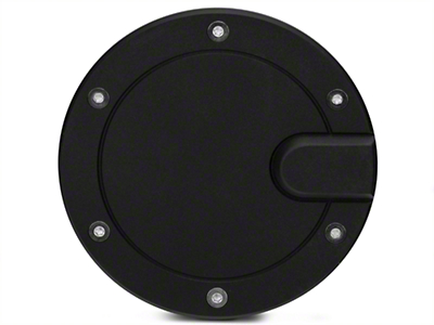 Modern Billet Race Style Billet Fuel Door - Flat Black (04-08 F-150 Styleside)