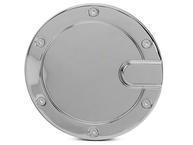 Modern Billet Race Style Billet Fuel Door - Chrome (04-08 Flareside)