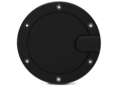 Modern Billet Race Style Billet Fuel Door - Flat Black (04-08 Flareside)