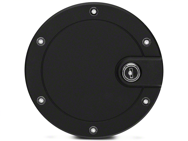 Modern Billet Race Style Billet Locking Fuel Door - Flat Black (04-08 Flareside)