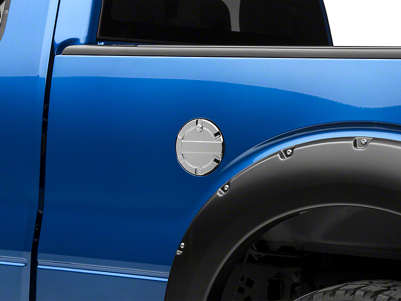Modern Billet Striker Style Billet Locking Fuel Door - Chrome (09-14 Styleside)