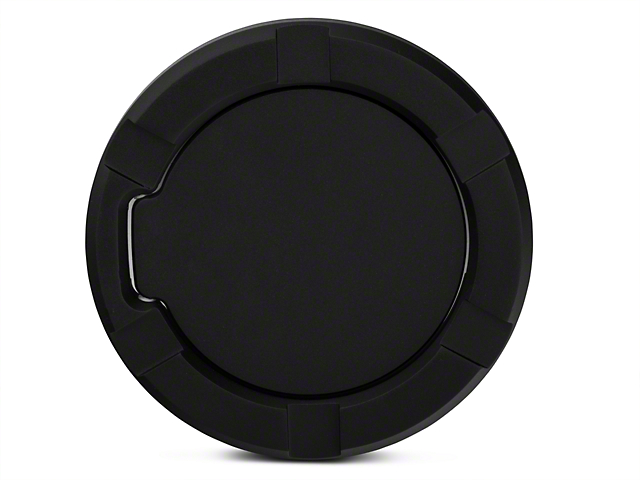 Modern Billet Striker Style Billet Non-Locking Fuel Door - Flat Black (97-03 All)