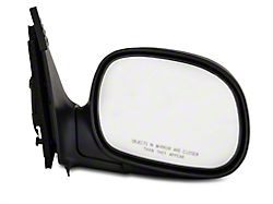 OE-Style Replacement Powered Non-Heated Foldaway Side Mirror; Passenger Side; Black Cap (97-02 F-150)