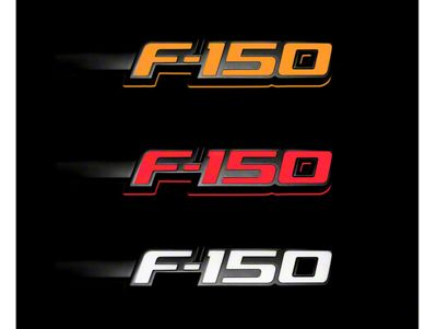 Illuminated 2 Piece Emblem Kit - Black w/ with Amber, Red,& White Illumination (09-14 F-150, Excluding Raptor)