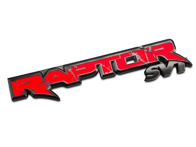 Recon Illuminated Rear Tailgate Emblem - w/ Red Illumination (10-14 Raptor)