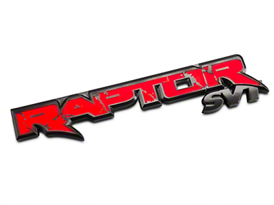 Recon Illuminated Rear Tailgate Emblem - w/ Red Illumination (10-14 F-150 Raptor)