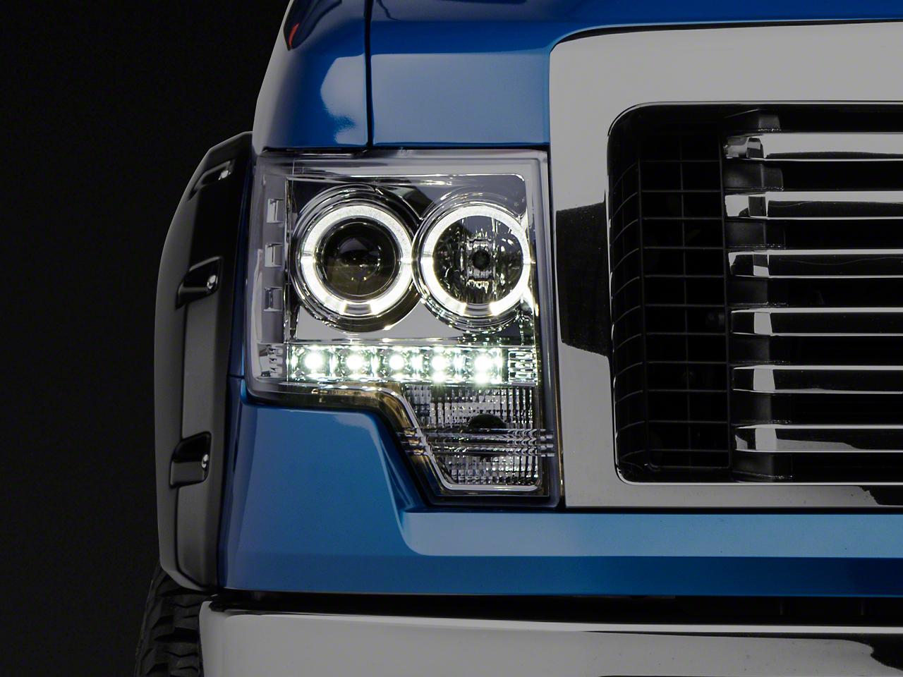 Recon Projector Headlights - Clear Lens (09-14 F-150 w/o Factory Projectors/HIDs)
