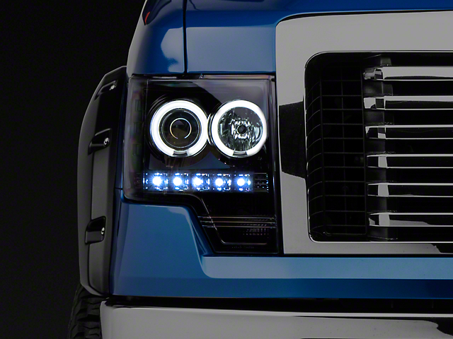 Recon Projector Headlights w/ CCFL Halo - Smoked Lens (09-14 F-150 w/o Factory Projectors/HIDs)