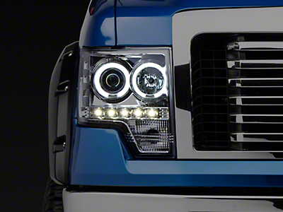 Recon Projector Headlights w/ CCFL Halo - Clear Lens (09-14 w/o Factory Projectors/HIDs)