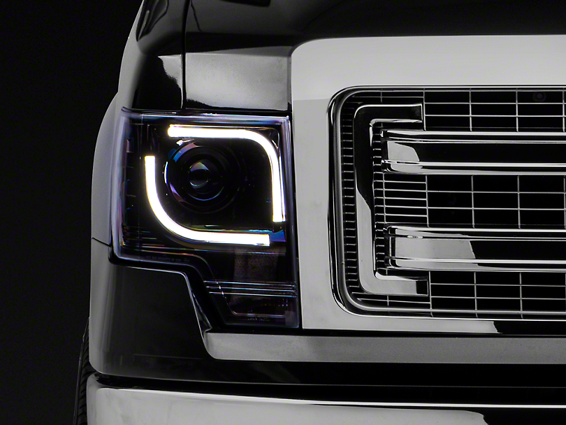Projector Headlights - Smoked Lens (13-14 F-150 w/ Factory Projectors/HIDs)