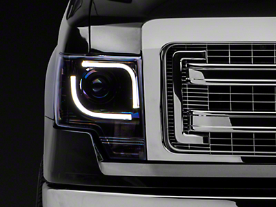 Recon Projector Headlights - Smoked Lens (13-14 F-150 w/ Factory Projectors/HIDs)